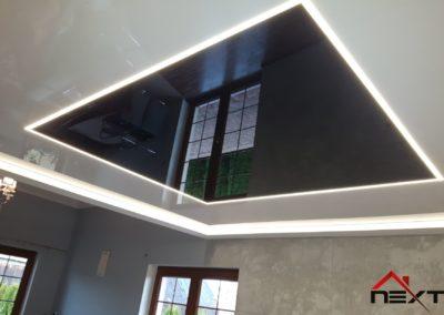 Sufit napinany łączony z podświetleniem LED po obwodzie